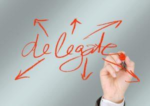 delegate - effective leadership image